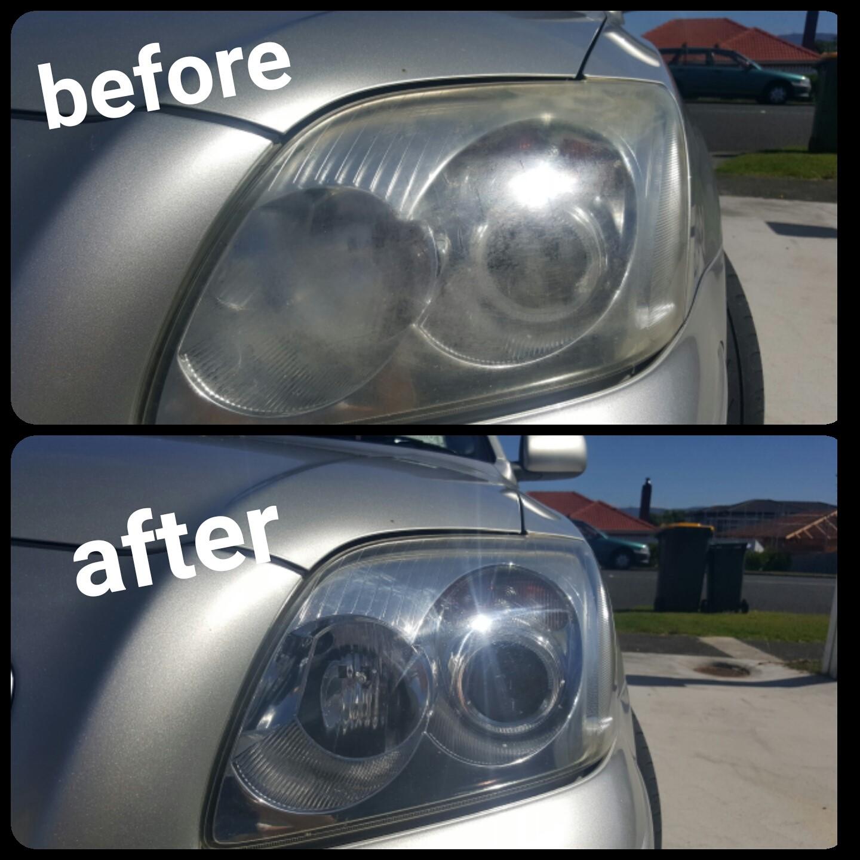 Toyota headlight restoration