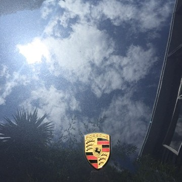 Porsche bonnet after cut & polish