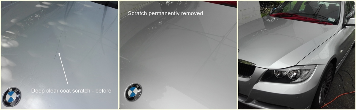 Scratches removed in car panels