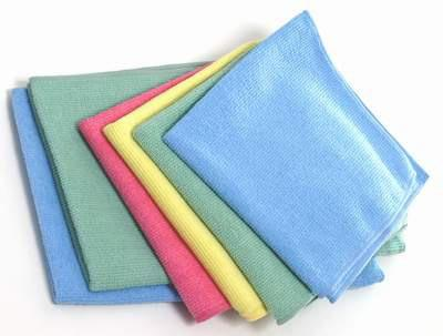 Towel dry with microfibre cloths