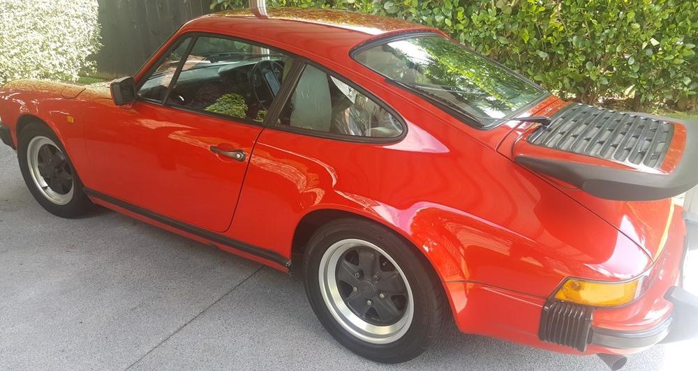 Red Porsche after polish
