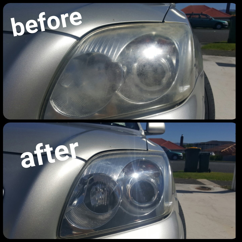 Yellow headlight repair Auckland