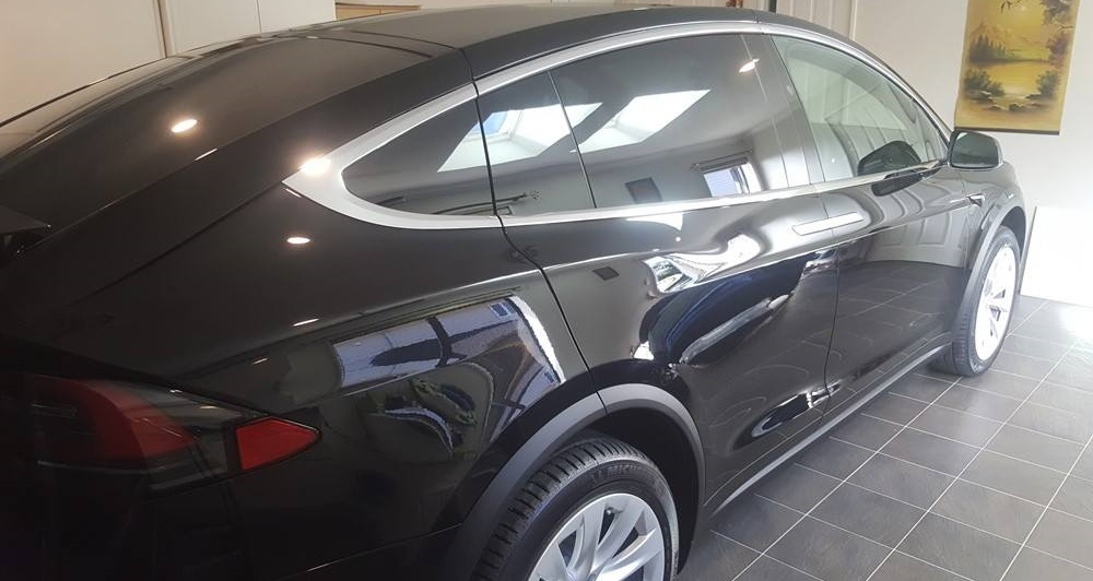 tesla with ceramic coating auckland